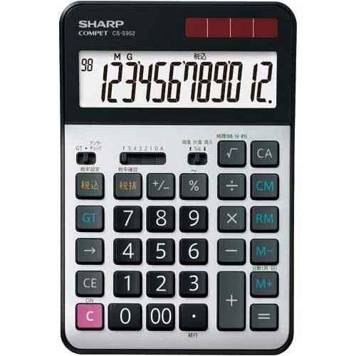 シャープ 実務電卓セミデスクサイズ CS−S952X 3台入