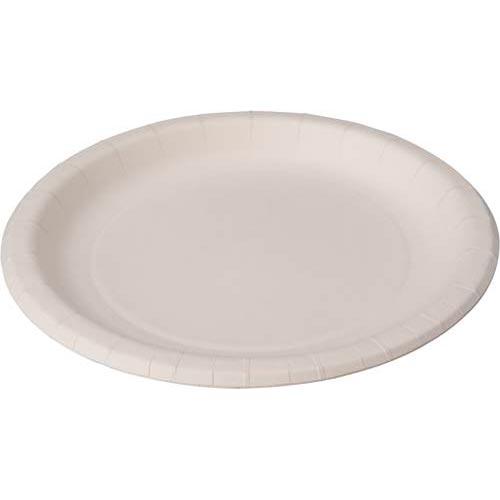 商品合計金額3000円 返品不可 保障 税込 以上送料無料 紙食器 紙皿 ナチュラルパルププレート 170mm ペーパーウェアー 紙容器 100枚入