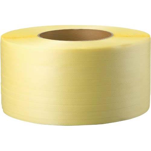 商品合計金額3000円 税込 以上送料無料 カウネット 黄色 PPバンド 安心の実績 高価 買取 強化中 2500m 1年保証 ×6