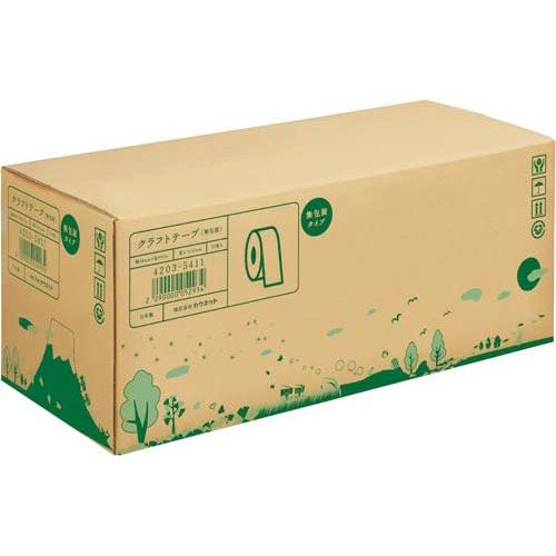 カウネット クラフトテープ 無包装タイプ 3箱(150巻) | 梱包 梱包資材 テープ 引っ越し 引越し 梱包テープ 粘着テープ 作業用品 生活雑貨 まとめ買い カウモール