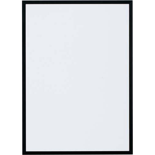 カウネット ポスターパネル A3 ブラック 12枚 | ポスターフレーム 壁掛け 掲示用 アルミフレーム ディスプレイ ディスプレー UVカット加工 ポスターパネル ポスター パネル フレーム 額縁 A3 サイズ カウモール