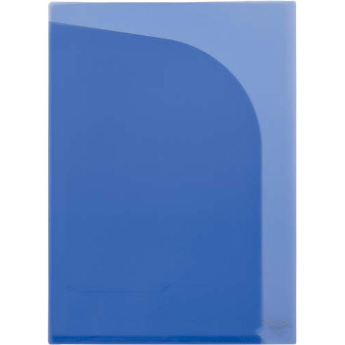 カウネット 2ポケットクリヤーポケットA4タテ100枚ブルー | クリアフォルダ クリアファイル クリアーファイル 透明 文具 文房具 収納 整理 書類 収納 書類整理 仕分け ステーショナリー 事務用品 A4