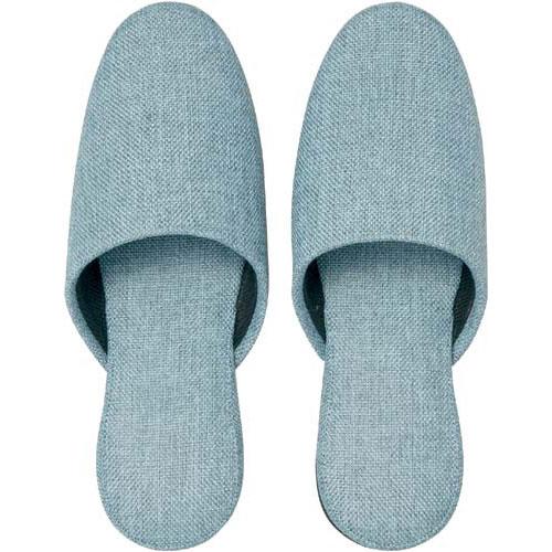 カウネット オリジナル布スリッパ ブルー 5足入×6