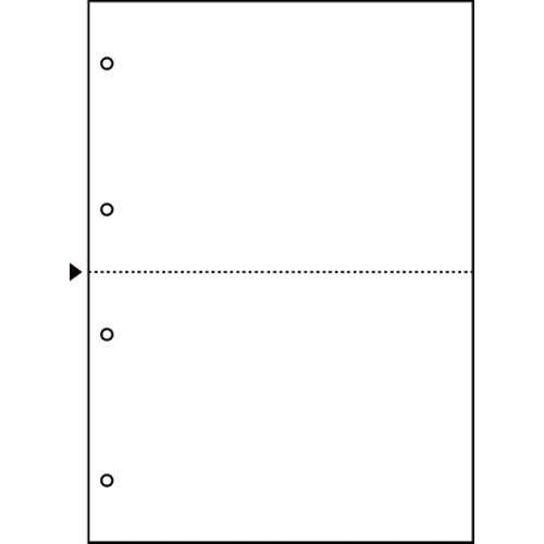 ヒサゴ マルチ帳票エコノミー A4白紙2面4穴 2500枚