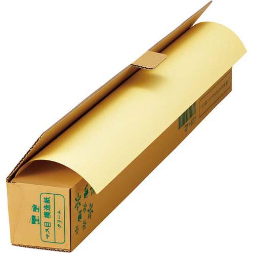 「カウコレ」プレミアム 色マス目模造紙30m巻ロール クリーム 業パ 3本