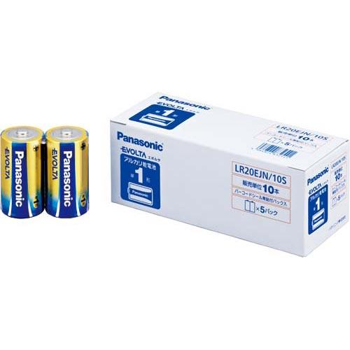 パナソニック 乾電池 アルカリ エボルタ 単1 10本入