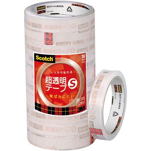 スリーエムジャパン スコッチ(R)超透明テープS18mm幅10巻×20