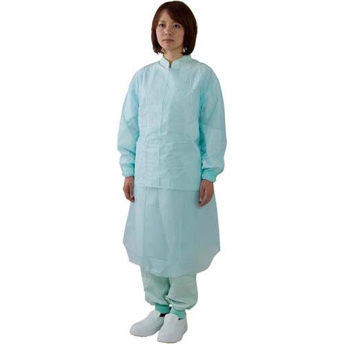 川西工業 ポリエチ袖付エプロン ブルー 10枚入×20箱