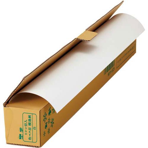 「カウコレ」プレミアム 手切れできるミシン目入30m巻模造紙 白 業パ6本