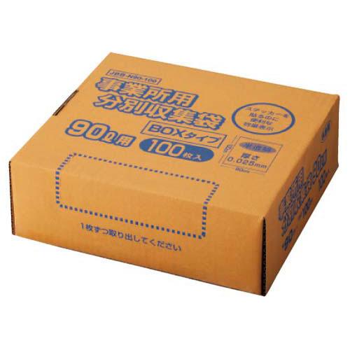 オルディ 高密度容量表示事業所用ゴミ袋90L箱 100枚×4