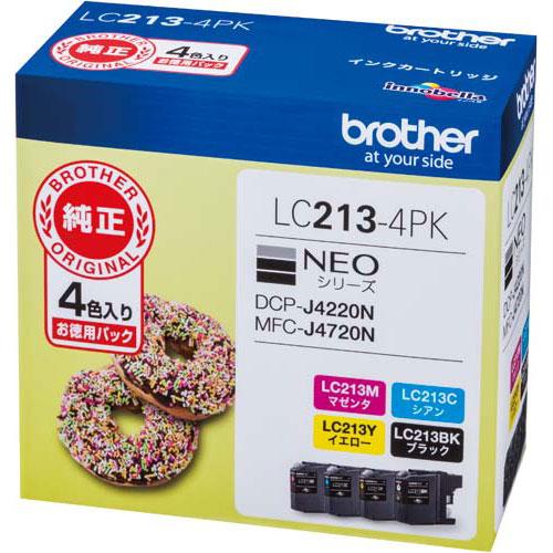 ブラザー 純正インク LC213-4PK 4色パック×2