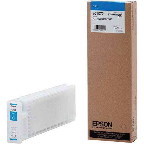 新しい エプソン シアン 純正インク 純正インク SC1C70 SC1C70 シアン, シングウチョウ:39164807 --- enduro.pl