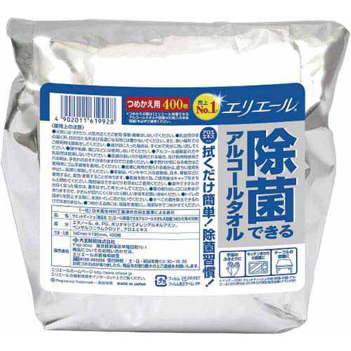 大王製紙 エリエール除菌アルコール 詰替400枚×8パック