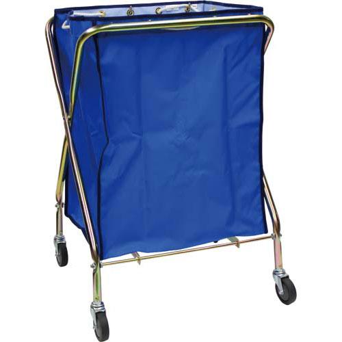 テラモト ダストカート 132L袋ブルー+フレーム