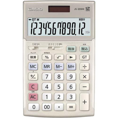 カシオ 電卓 本格実務 ジャスト型 JS-20WK-GD