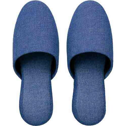 カウネット 洗える布製スリッパ ブルー 30足入