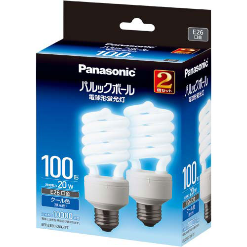 パナソニック 電球型蛍光灯 D形100W 昼光色 10個入