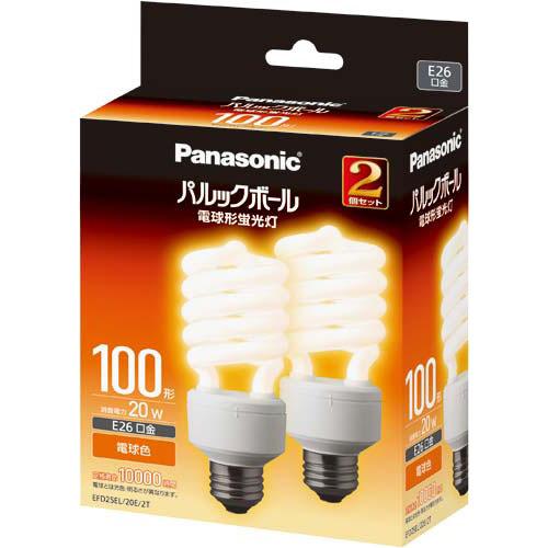 パナソニック 電球型蛍光灯 D形100W 電球色 10個入