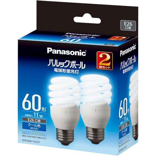 パナソニック 電球型蛍光灯 D形60W 昼光色 10個入