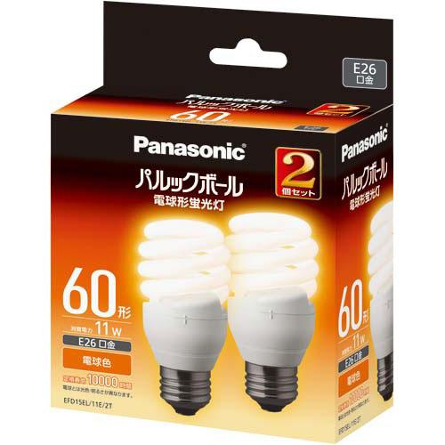 パナソニック 電球型蛍光灯 D形60W 電球色 10個入