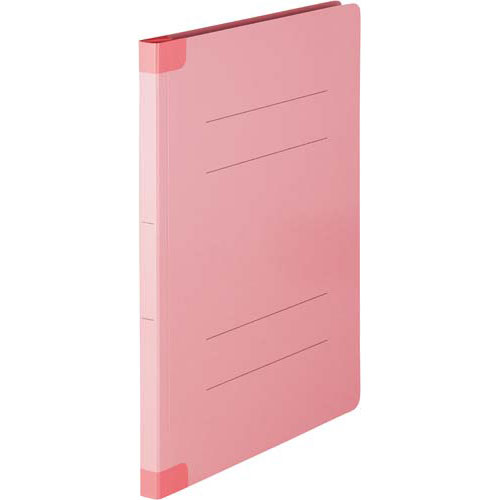 「カウコレ」プレミアム ラベルが剥がし易い背補強フラットファイル桃A4 200冊 | フォルダ ファイル フォルダー バインダー 文具 文房具 収納 整理 書類 収納 書類整理 仕分け ステーショナリー 事務用品 A4