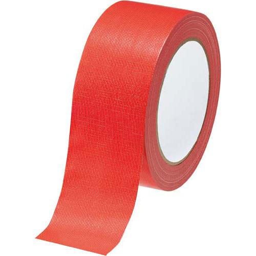 カウネット カラー布テープ 赤 90巻 | 梱包 梱包資材 テープ 引っ越し 引越し ガムテープ 布 梱包テープ 粘着テープ 作業用品 生活雑貨 まとめ買い カウモール