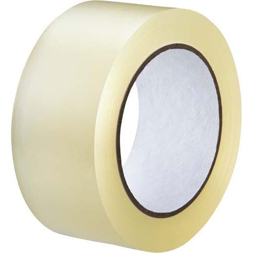 カウネット PPテープ 中梱包用 透明100m巻 50巻 | 梱包 梱包資材 テープ 引っ越し 引越し 梱包テープ 粘着テープ PPテープ 作業用品 生活雑貨 まとめ買い カウモール