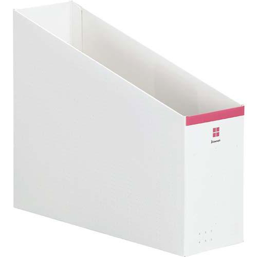 「カウコレ」プレミアム 2WAYファイルボックス ピンク×50 | 整理箱 ファイル フォルダ ボックス 文具 文房具 収納 整理 書類 収納 書類整理 仕分け ステーショナリー 事務用品