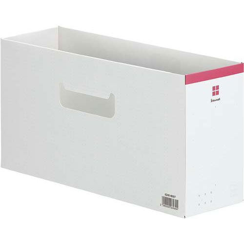 「カウコレ」プレミアム ローライズファイルボックス ピンク×50   整理箱 ファイル フォルダ ボックス 文具 文房具 収納 整理 書類 収納 書類整理 仕分け ステーショナリー 事務用品
