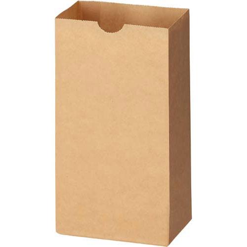 フロンティア 角底袋 茶無地 4号100枚×20