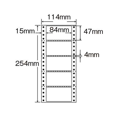 東洋印刷 タックフォーム 4.5×10 5片 1000枚