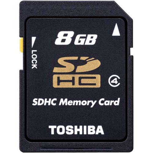 東芝 SDHCカード CLASS4 8GB×10