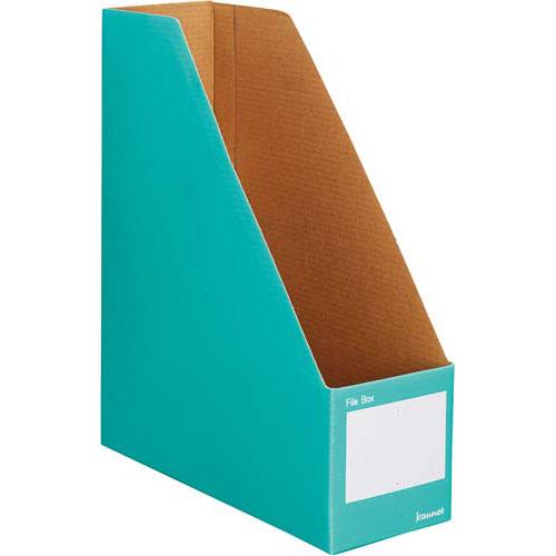 カウネット ファイルボックスA4縦 グリーン 10個×10 | 整理箱 ファイル フォルダ ボックス 文具 文房具 収納 整理 書類 収納 書類整理 仕分け ステーショナリー 事務用品 A4