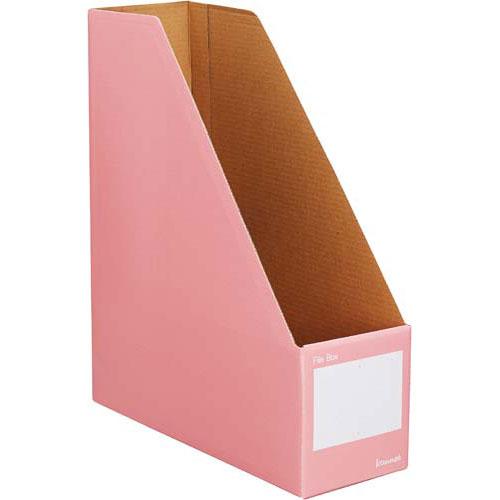 カウネット ファイルボックスA4縦 ピンク 10個×10 | 整理箱 ファイル フォルダ ボックス 文具 文房具 収納 整理 書類 収納 書類整理 仕分け ステーショナリー 事務用品 A4