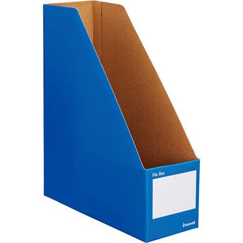 カウネット ファイルボックスA4縦 ブルー 10個×10 | 整理箱 ファイル フォルダ ボックス 文具 文房具 収納 整理 書類 収納 書類整理 仕分け ステーショナリー 事務用品 A4
