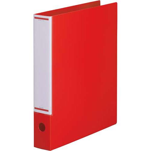 「カウコレ」プレミアム マニュアルリングファイル背幅50mmA4縦 赤×30 | リングファイル フォルダ ファイル フォルダー バインダー 文具 文房具 収納 整理 書類 収納 書類整理 仕分け ステーショナリー 事務用品 A4