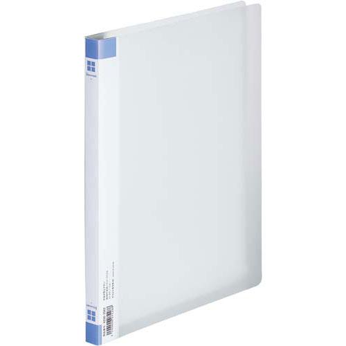 「カウコレ」プレミアム PP透明表紙フラットファイル ブルー 50冊