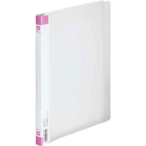 「カウコレ」プレミアム PP透明表紙フラットファイル ピンク 50冊