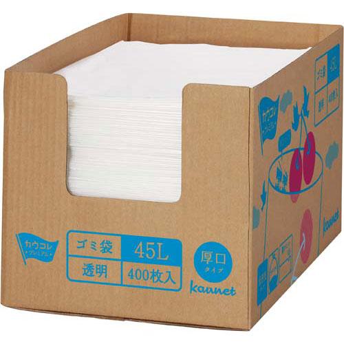 「カウコレ」プレミアム 箱入り増量低密度厚口ゴミ袋 45L 400枚×3 | カウモール ゴミ袋 ごみ袋 レジ袋 ビニール袋 日用品 生活雑貨 大掃除 掃除用品