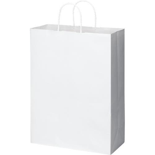カウネット 丸紐手提げ袋 スタンダード白(晒)LL 50枚×6
