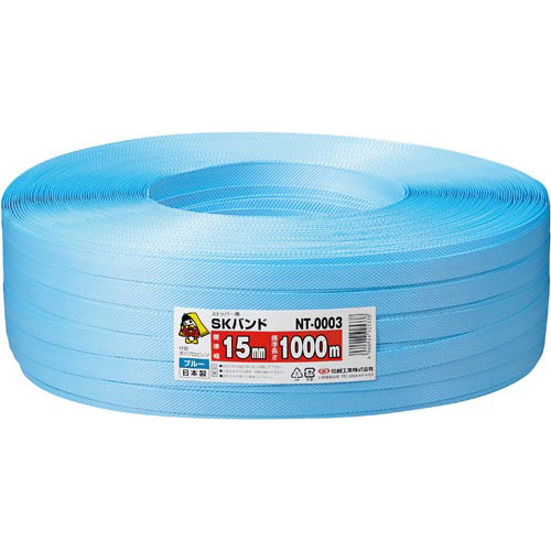 信越工業 PPバンド 青 幅15mm×1000m 5巻