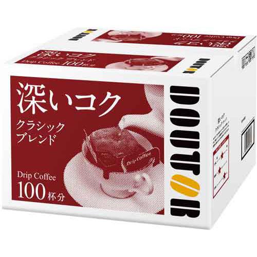 100袋DOUTOR咖啡滴落式咖啡古典混合