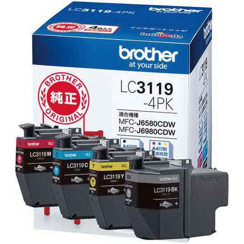 ブラザー 純正インク LC3119-4PK 4色パック