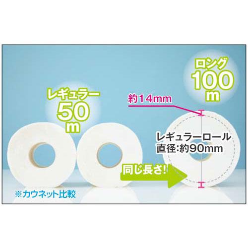 「カウコレ」プレミアム ロングトイレットペーパー S100m 6個入×4【1nin】【random_lp】