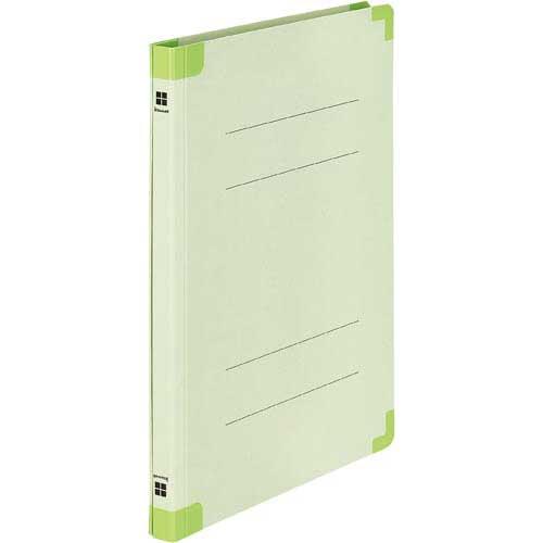 「カウコレ」プレミアム 四隅が傷みにくい背補強フラットファイル緑 200冊