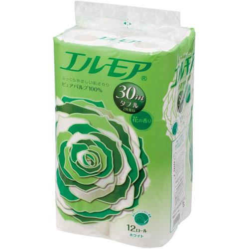 カミ商事 【×10セット】 シングル 1パック エルモア (12ロール) (まとめ) 花の香り 芯あり 60m