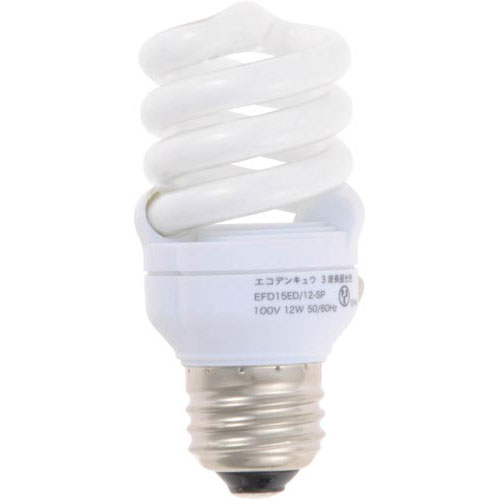 オームデンキ 電球型蛍光灯 D形60W 昼光色 2個入×10