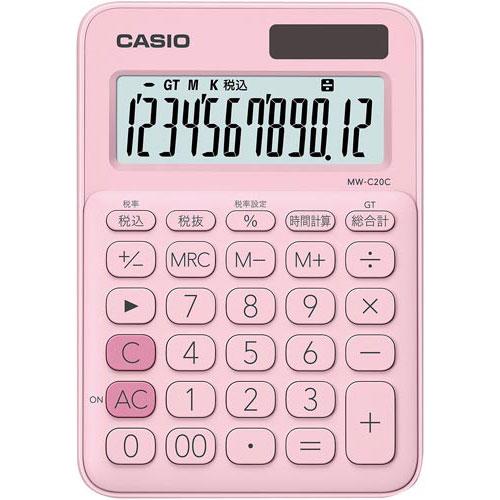 商品合計金額3000円 激安通販 税込 以上送料無料 スピード対応 全国送料無料 カシオ カラフル電卓 ペールピンク