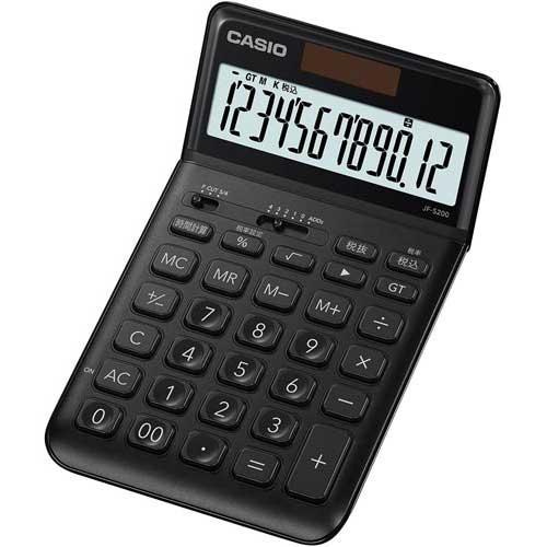 カシオ スタイリッシュ電卓 ブラック×3