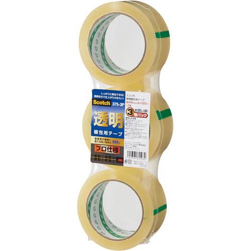 スリーエムジャパン スコッチ透明梱包用テーププロ仕様3巻×12